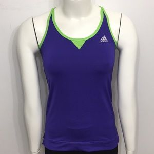 Adidas Purple Green Lining Tank Top Size Small
